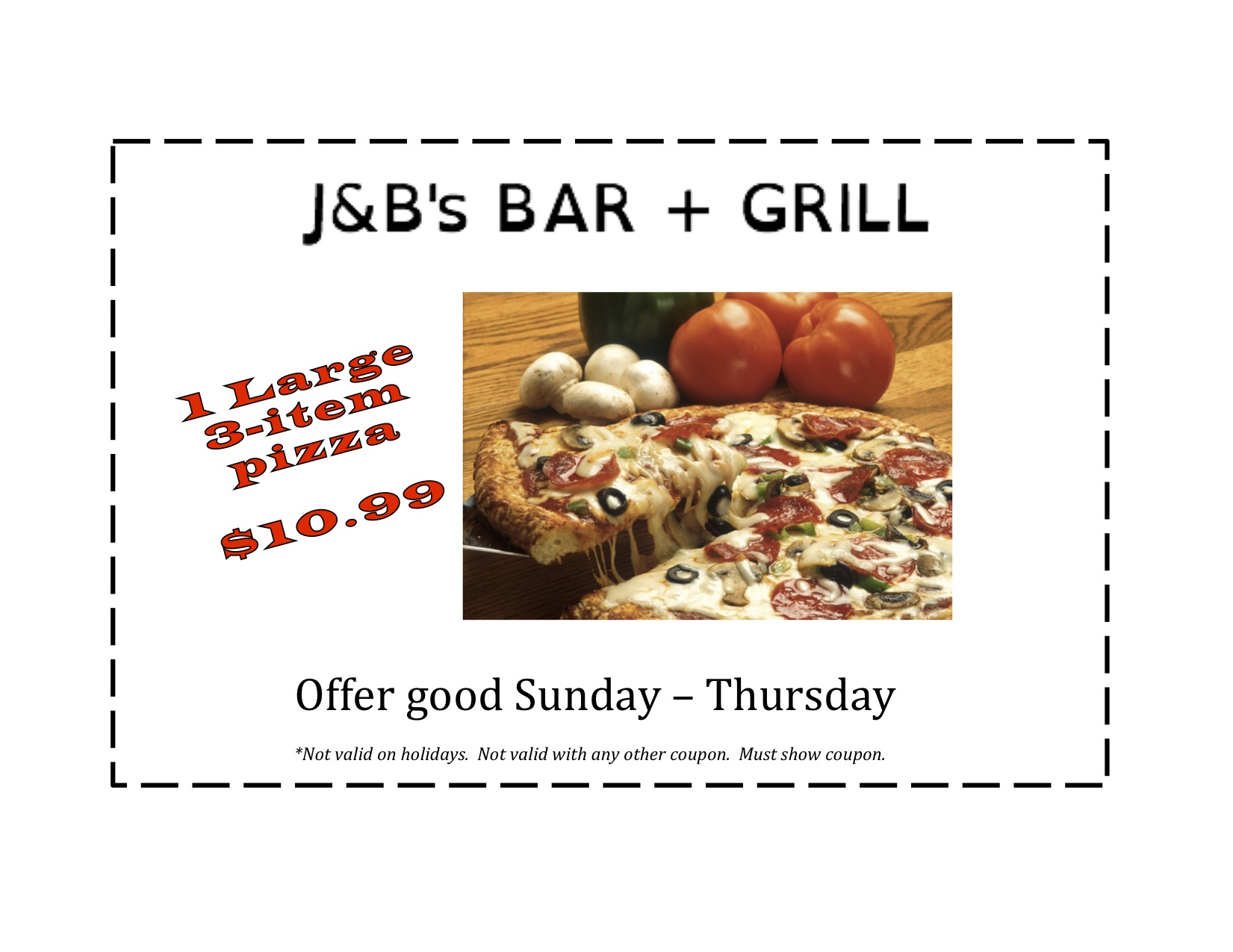 J&Bs pizza coupon